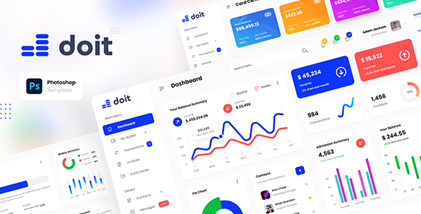 [Free Download] Doit – Personal Banking Admin Dashboard UI Template PSD (Nulled) [Latest Version]