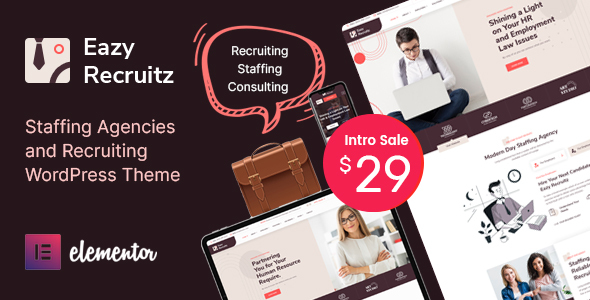 [Free Download] Eazy Recruitz – Staffing Agencies WordPress Theme (Nulled) [Latest Version]