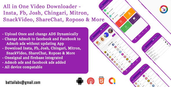 [Free Download] All video downloader – without watermark| FAN | ADMOB | DYNAMIC ADS UPDATE (Nulled) [Latest Version]