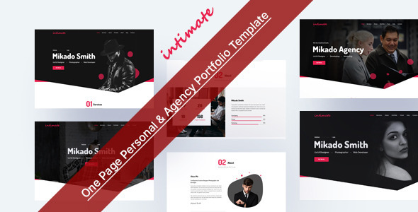 [Free Download] Intimate – One Page Personal & Agency Portfolio HTML-5 Template (Nulled) [Latest Version]