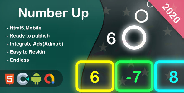 [Free Download] Number Up(Html5 + Construct 3 +Mobile) (Nulled) [Latest Version]