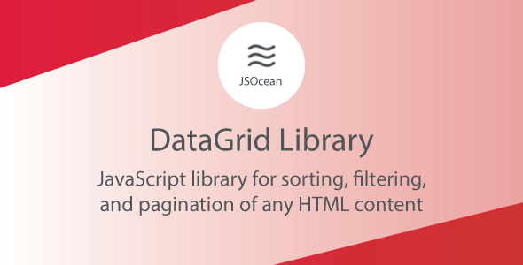 [Free Download] DataGrid – JavaScript Pagination, Sort and Filter (Nulled) [Latest Version]