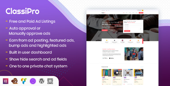 [Free Download] Classipro – Classified Ads WordPress Plugin (Nulled) [Latest Version]