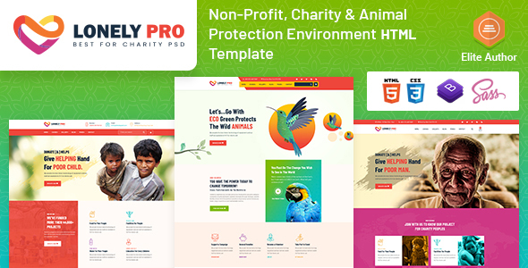 [Free Download] LonelyPro- Charity & Animal Protection Environment HTML Template (Nulled) [Latest Version]