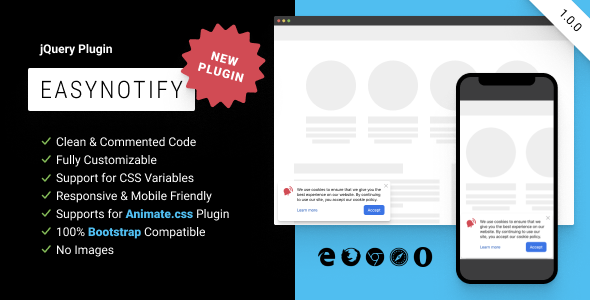 [Free Download] EasyNotify: Lightweight Responsive jQuery Plugin for Modern Notification (Nulled) [Latest Version]