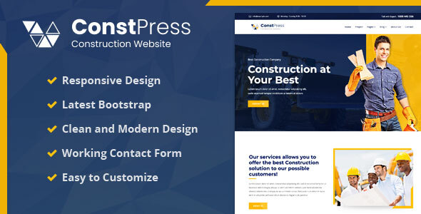 [Free Download] ConstPress – Construction Bootstrap5 Template (Nulled) [Latest Version]