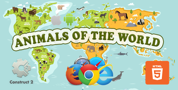 [Free Download] Animals Of The World – Educational Game – HTML5 (.Capx) (Nulled) [Latest Version]