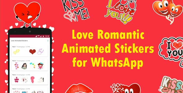 [Free Download] Love Animated Stickers for WhatsApp – Sticker Keyboard (Nulled) [Latest Version]