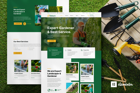 [Free Download] Naturn – Landscape & Gardening Elementor Template Kit (Nulled) [Latest Version]