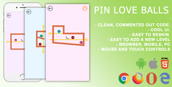 [Free Download] Pin Love Balls. Mobile, Html5 Game .c3p (Construct 3) (Nulled) [Latest Version]