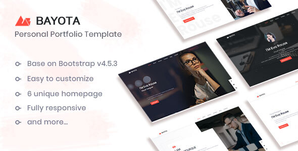 [Free Download] Bayota – Responsive Personal & Portfolio Template (Nulled) [Latest Version]
