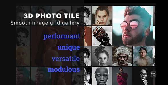 [Free Download] 3D Photo Tile – Advanced Media Gallery (Nulled) [Latest Version]