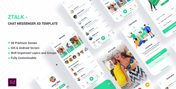 [Free Download] Ztalk – Chat Messaging Adobe XD Template (Nulled) [Latest Version]