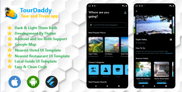 [Free Download] Tour And Travel App By Flutter Both Android and IOS (Nulled) [Latest Version]