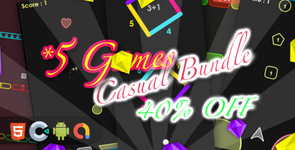 [Free Download] Casual Game Bundle 3- 5 Games(Html5 + Construct 3 +Mobile) (Nulled) [Latest Version]