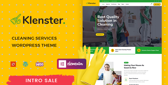 [Free Download] Klenster – Cleaning Services WordPress Theme (Nulled) [Latest Version]