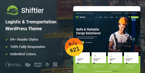 [Free Download] Shiftler – Transportation & Logistics WordPress Theme (Nulled) [Latest Version]