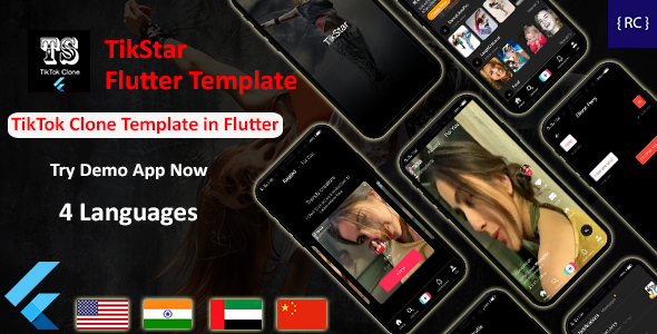 [Free Download] TikTok Clone App Template in Flutter | Multi Language | TikStar (Nulled) [Latest Version]