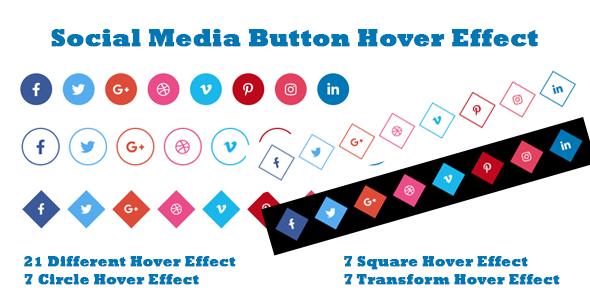 [Free Download] Social Media Button Hover Effect (Nulled) [Latest Version]