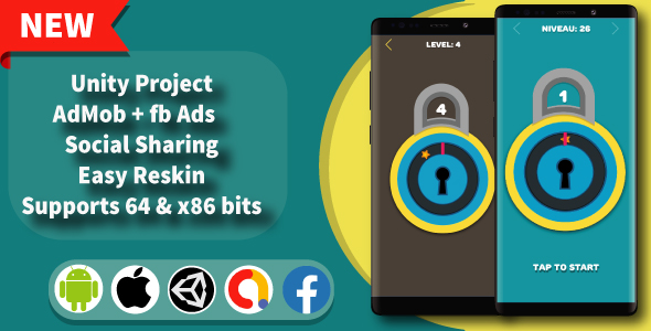 [Free Download] Unlock it – Unity Game Template + Admob + Facebook Ads (Nulled) [Latest Version]