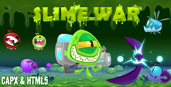 [Free Download] Slime War (CAPX and HTML5) Shooting Game (Nulled) [Latest Version]
