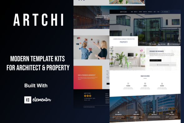 [Free Download] Artchi – Modern Architecture Elementor Template Kit (Nulled) [Latest Version]