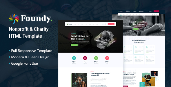 [Free Download] Foundy – Nonprofit Charity HTML Template (Nulled) [Latest Version]
