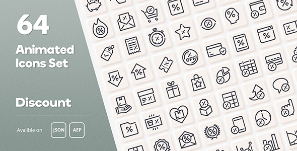 [Free Download] Discount Animated Icons Set – WordPress Lottie JSON SVG (Nulled) [Latest Version]