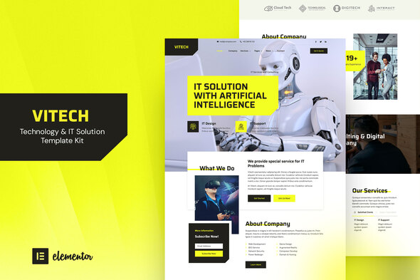 [Free Download] Vitech – Technology & IT Solution Elementor Template Kit (Nulled) [Latest Version]