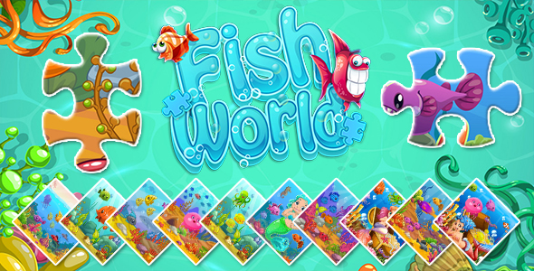 [Free Download] Fish World (CAPX and HTML5) Jigsaw Puzzle Game (Nulled) [Latest Version]