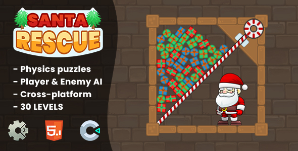 [Free Download] Santa Rescue – HTML5 Game | Construct 2 & Construct 3 (Nulled) [Latest Version]