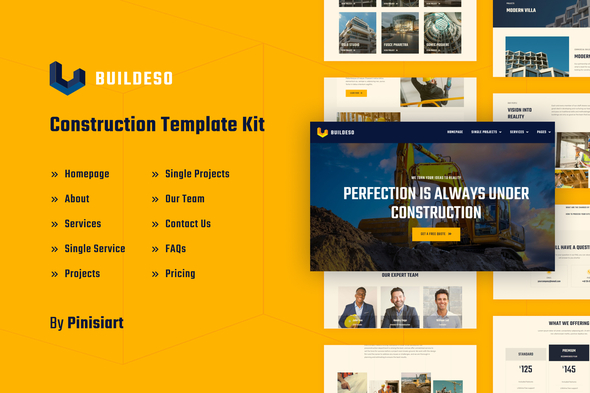 [Free Download] Buildeso | Construction Elementor Template Kit (Nulled) [Latest Version]