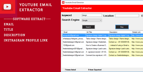 [Free Download] Youtube Email Scrapping Tool (Nulled) [Latest Version]