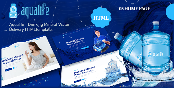 [Free Download] Aqualife – Drinking Mineral Water Delivery HTML5 Template (Nulled) [Latest Version]