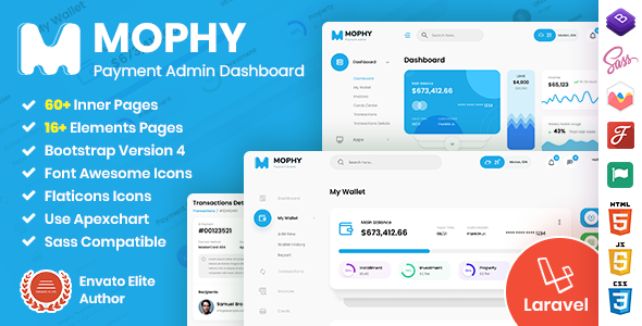 [Free Download] Mophy | Laravel Payment Admin Dashboard Template (Nulled) [Latest Version]
