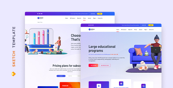 [Free Download] Edison – Online Education Template for Sketch (Nulled) [Latest Version]