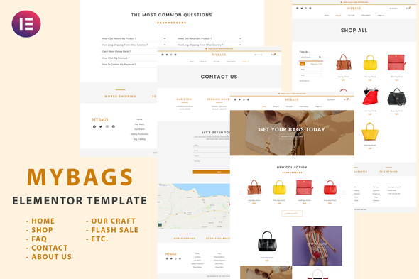 [Free Download] Mybags – Modern Commerce Elementor Template Kit (Nulled) [Latest Version]