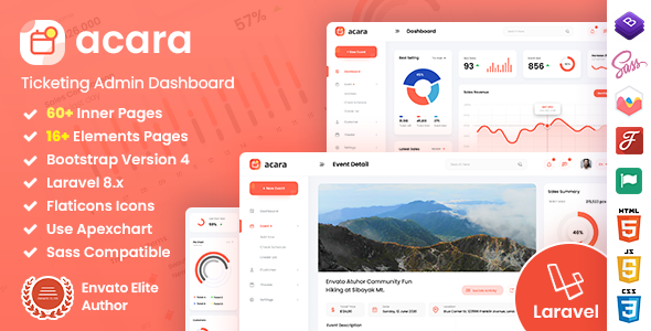 [Free Download] Acara – Ticketing Bootstrap 4 Laravel Admin Dashboard (Nulled) [Latest Version]