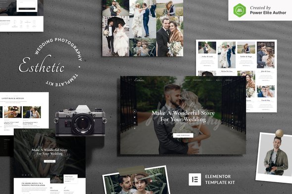 [Free Download] Esthetic – Wedding Photography Elementor Template Kit (Nulled) [Latest Version]