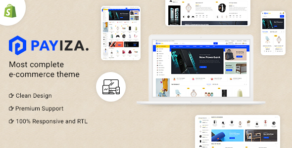 [Free Download] Payiza Multipurpose Shopify Responsive Theme (Nulled) [Latest Version]