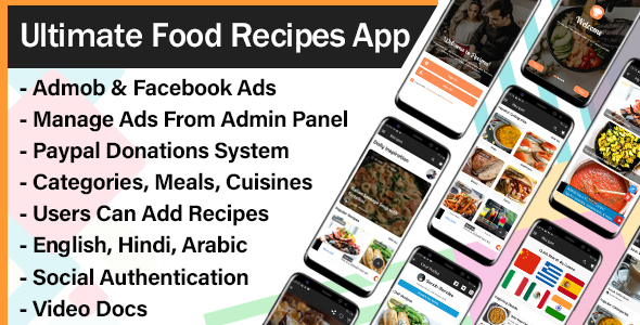 [Free Download] Ultimate Food Recipes App with Admin Panel (Nulled) [Latest Version]