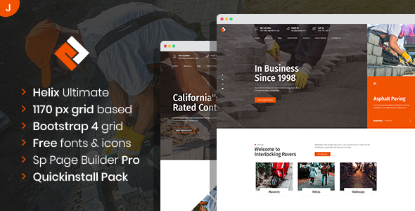 [Free Download] Pawex – Paving Contractor Joomla Template with Page Builder (Nulled) [Latest Version]