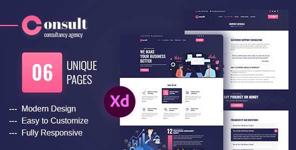 [Free Download] Consult – Consultancy Agency XD Template (Nulled) [Latest Version]