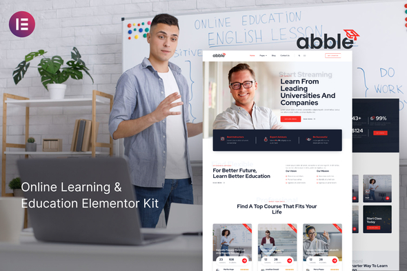[Free Download] Abble – Online Learning & Education Elementor Kit (Nulled) [Latest Version]