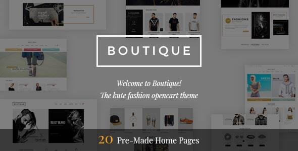 [Free Download] Boutique – Premium OpenCart Theme (Nulled) [Latest Version]