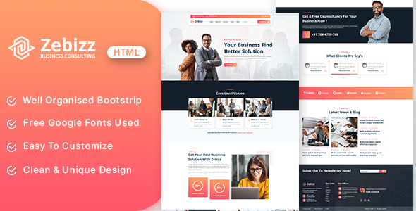 [Free Download] Zebizz – Business Consulting HTML Template (Nulled) [Latest Version]