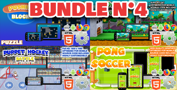 [Free Download] Bundle N°4 ( 04 games | CAPX and HTML5 ) (Nulled) [Latest Version]