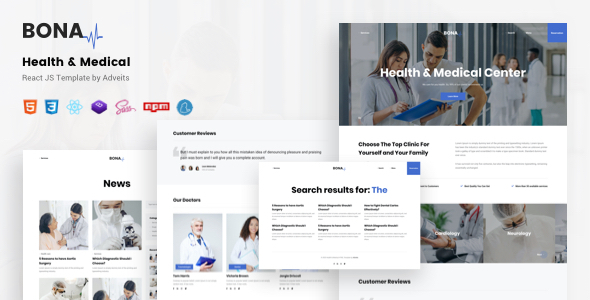 [Free Download] Bona – Health & Medical React JS Template (Nulled) [Latest Version]