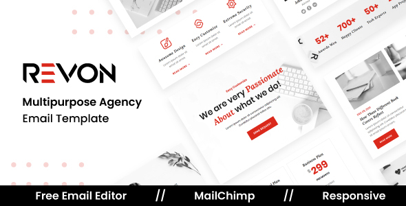[Free Download] Revon Agency – Multipurpose Responsive Email Template (Nulled) [Latest Version]