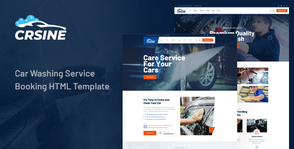 [Free Download] CRSINE – Car Washing Service Booking HTML Template (Nulled) [Latest Version]
